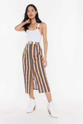 Nasty Gal Stripe Linen Maxi Skirt