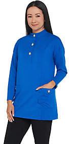 Bob Mackie Bob Mackie's Cotton Modal Tunic Topwith Pockets