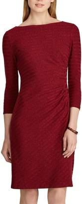 Chaps Women's Knit Bateau neckline Sheath Dress
