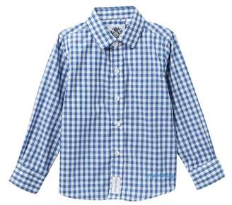 English Laundry Long Sleeve Woven Plaid Dress Shirt (Toddler Boys & Little Boys)