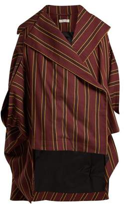 Palmer Harding Palmer//Harding Palmer//harding - Crest Striped Cotton Cape - Womens - Burgundy