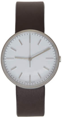 Uniform Wares Brown and White Leather M37 Watch