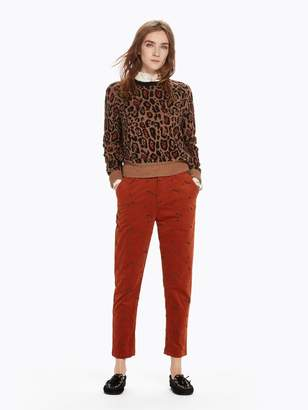 Scotch & Soda Star Embroidery Corduroy Trousers