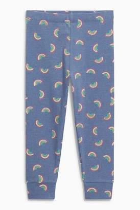 Next Girls Denim Blue Graphic Leggings (3mths-6yrs)