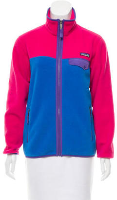 Patagonia Colorblock Fleece Jacket $70 thestylecure.com