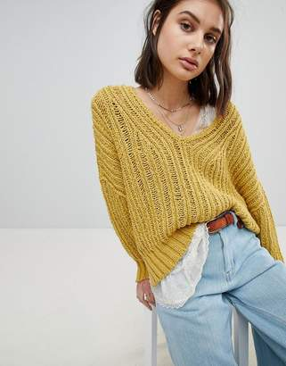 Free People Oversized Open Knit Sweater