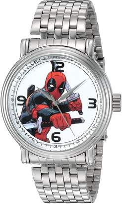 Marvel Men's 'Deadpool' Quartz Metal and Stainless Steel Automatic Watch, Color:-Toned (Model: W002858)