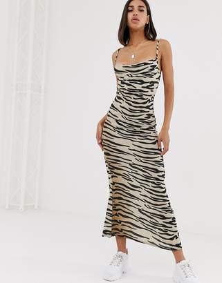e957eb4b6c In The Style Tiger Print Cowl Neck Maxi Dress