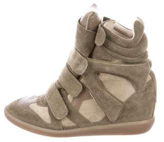 Isabel Marant High-Top Wedge Sneakers