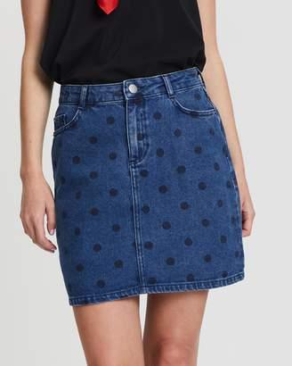 Dorothy Perkins Mid-Wash Spot Skirt