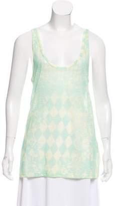 Balmain Linen Printed Top
