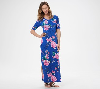 G.I.L.I. Got It Love It G.I.L.I. Regular Short-Sleeve Side Slit Maxi Dress