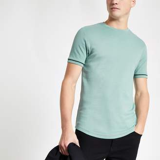 River Island Mens Mint Green short sleeve T-shirt