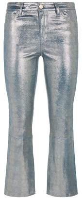 J Brand Selena Metallic Leather Bootcut Jeans