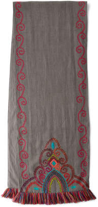 Pine Cone Hill Stone Washed Embroidered Table Runner
