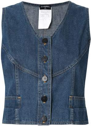 Chanel Pre-Owned sleeveless vest top