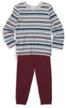 Splendid Little Boy's Two-Piece Stripe Shirt& Sweatpants Set