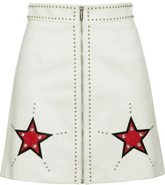 Miu Miu (ミュウミュウ) - Miu Miu star patch A-line skirt