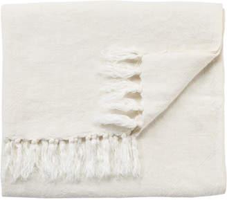 Lulu & Georgia Malea Linen Throw, White