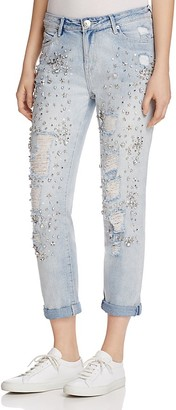 True Religion Embellished Audrey Slim Boyfriend Jeans in New City $289 thestylecure.com