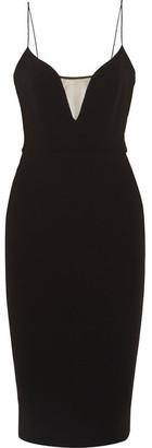 Victoria Beckham - Mesh-paneled Crepe Dress - Black $2,320 thestylecure.com