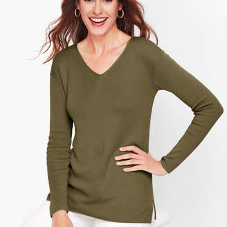 Talbots Drop Shoulder V-Neck Sweater