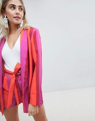 Missguided Bold Stripe Blazer