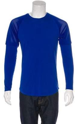 Helmut Lang Mesh-Trimmed Long Sleeve T-Shirt