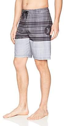 """Hurley Men's Apparel Men's Strands Striped 20"""" Swim Boardshort"""