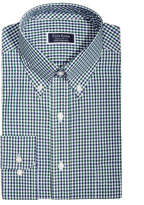 Club Room Men's Classic/Regular Fit Gingham Check Performance Dress Shirt, Created for Macy's