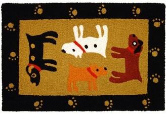 Winston Porter Beatson Woof Black Hand-Tufted Black/Yellow/Brown Indoor/Outdoor Area Rug Winston Porter