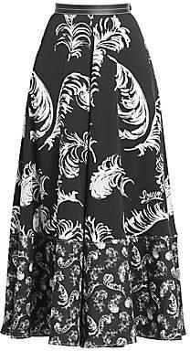 Loewe Women's Feather A-Line Midi Skirt