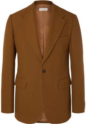 Dries Van Noten Light-Brown Bareno Slim-Fit Textured-Wool Suit Jacket