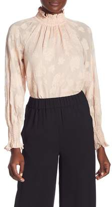 Rebecca Taylor Long Sleeve Smocked Floral Blouse