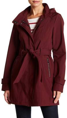 Sebby Belted & Hooded Softshell Raincoat