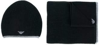 Emporio Armani scarf and beanie set