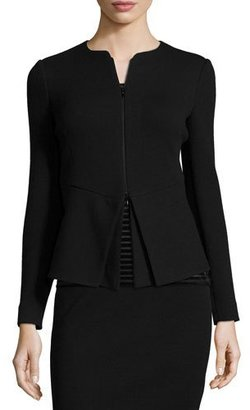 Armani Collezioni Zip-Front Cutaway-Bottom Jacket $1,395 thestylecure.com