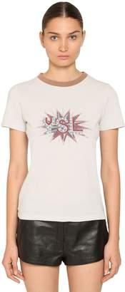Saint Laurent Printed Cotton Jersey T-Shirt