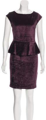 Alice + Olivia Velvet Peplum Dress