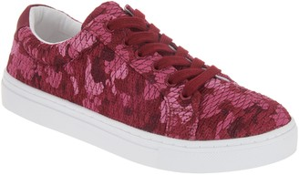 Isaac Mizrahi Live! SOHO Quilted Camo Printed Lace-Up Sneakers