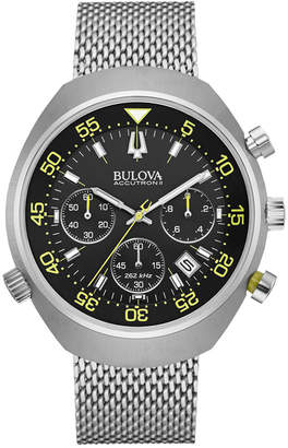 Bulova Accutron Men's Chronograph Stainless Steel Bracelet Watch 45mm 96B236