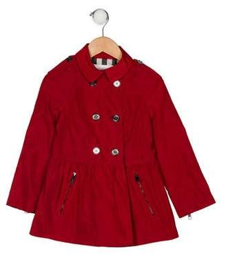 Burberry Girls' Flare Collared Jacket