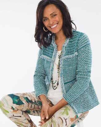 Chico's Chicos Structured Tweed Cardigan