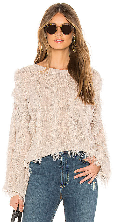 Slinky Fringe Pullover Sweater