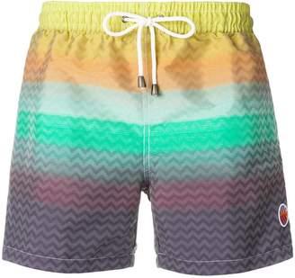 Missoni gradient swim shorts