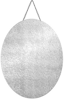 Pinnacle Frames and Accents 22x28 Oval Frameless Antiqued Wall Mirror with Chain