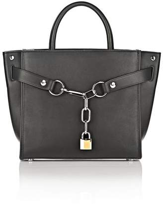 Alexander Wang (アレキサンダー ワン) - Alexander Wang Attica Chain Large Satchel In Black With Rhodium