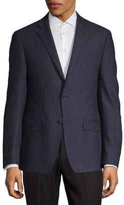 Calvin Klein X-Slim Fit Plaid Sports Jacket