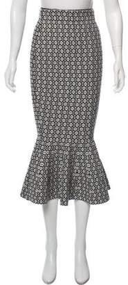 Milly Jacquard Knit Midi Skirt