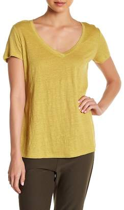 Eileen Fisher V-Neck Linen Tee